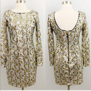 Gianni Bini sequin long sleeve party dress